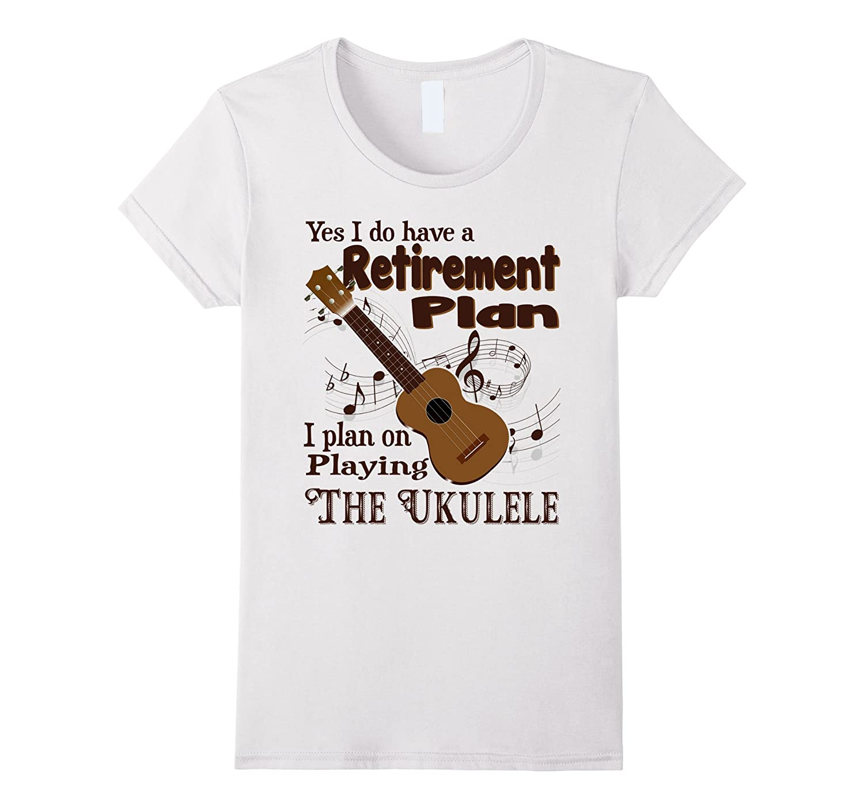 Piano Di Pensionamento A Giocare Ukulele T-shirt nwGXdlcfM