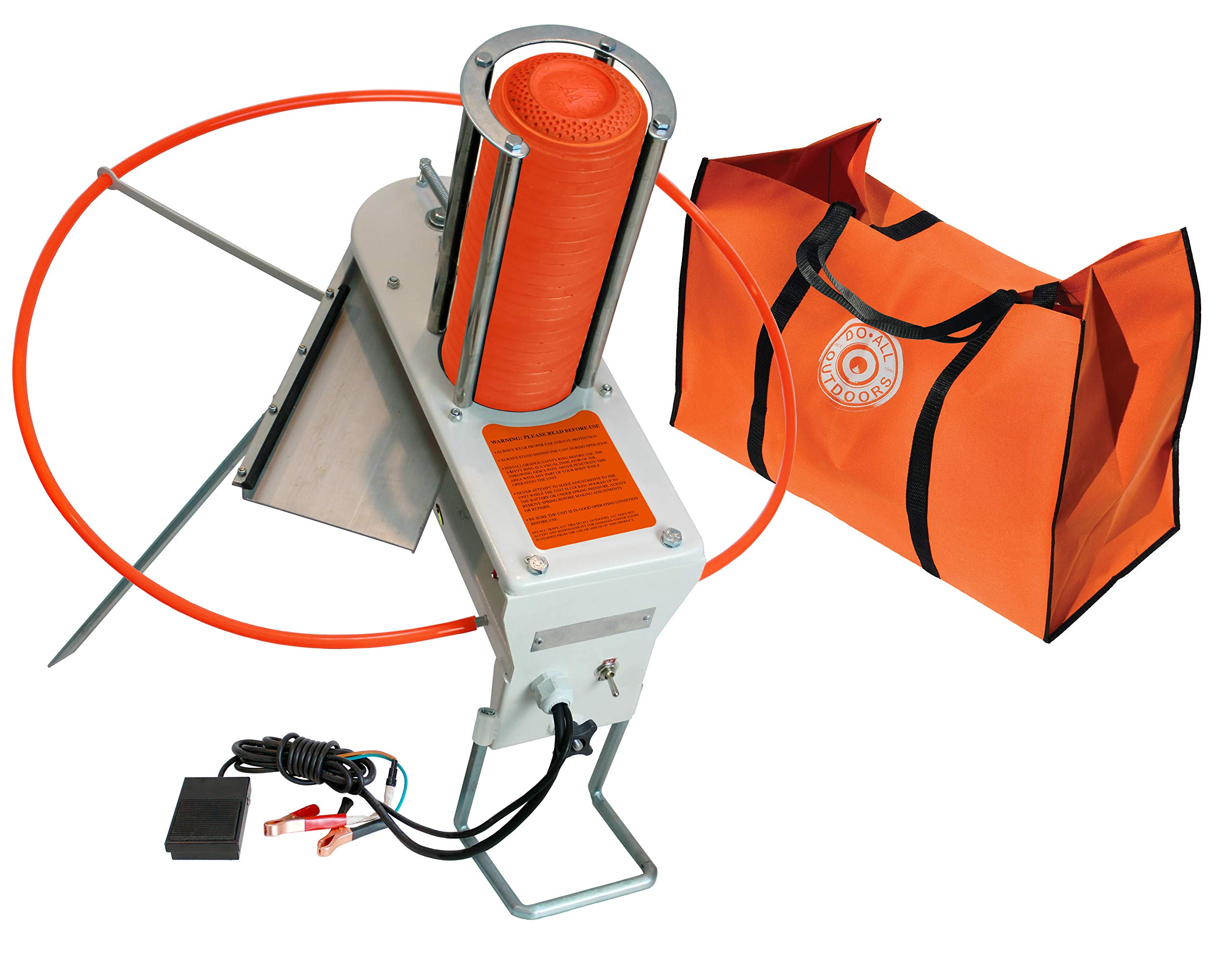 """Do-All Outdoors FF550 Firefly Automatic Skeet Thrower Trap , White , 8.6"""" x 11"""" x 22.2"""""""
