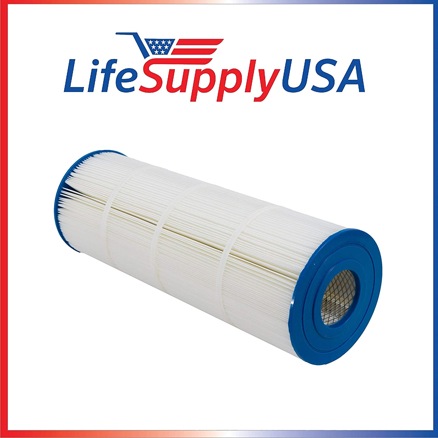 LifeSupplyUSA 2 Pool Spa Filters Compatible with 120 Square Foot Unicel C-8412 Hayward CX1200RE Pleatco PA120 Filbur FC-1293 Waterway Pro Clean Clearwater II 125