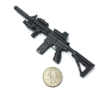 4D 1/6 Scale HK416 Assault Rifle US Army Heckler & Koch Miniature Toy Guns  Model Fit for 12