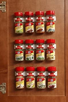 Bellemain Spice Gripper Clip Strips for Plastic Jars - Set of 3, Holds 12 Jars Jars & Containers at amazon