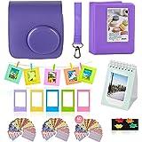 Polaroid Accessories. Polaroid Camera PIC-300 Instant Film Bundle, 9 PC Kit Includes: Polaroid Case + Strap + Photo Album + Standing Album + Wall Hanging Frames + 60 Stickers + 5 Frames, + Gift Set.
