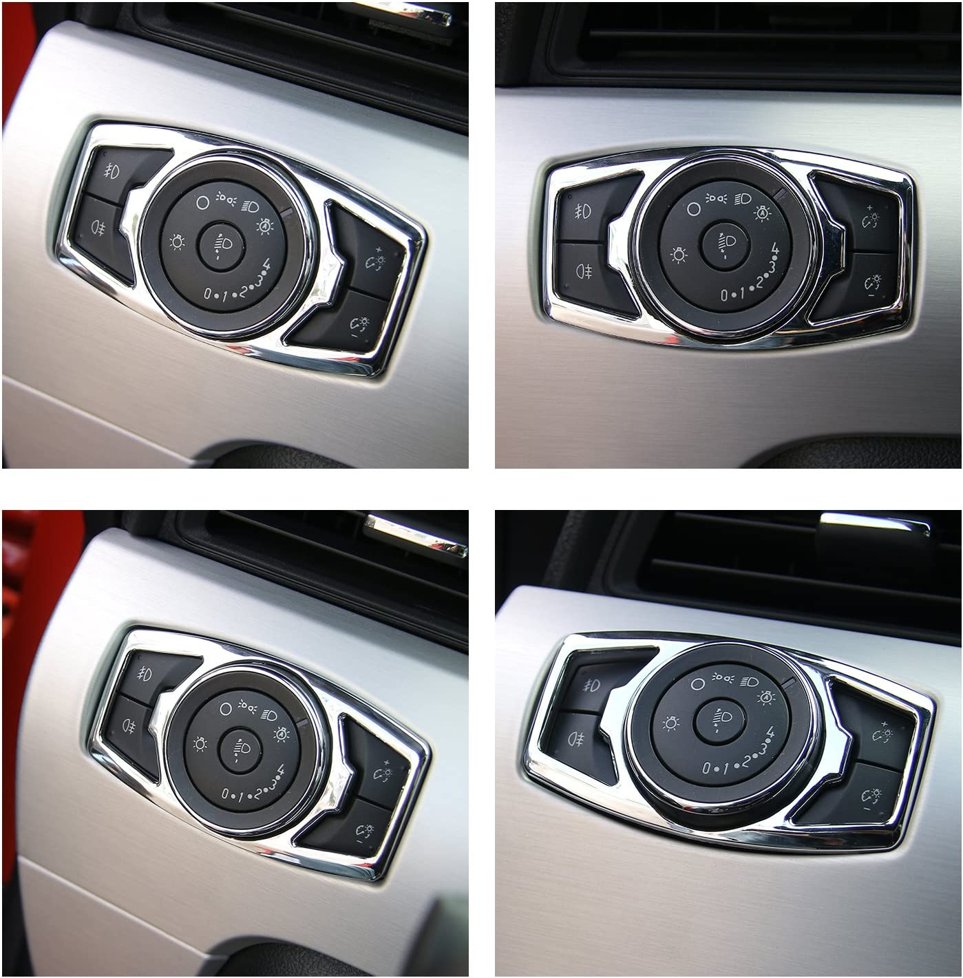 Headlight Switch Decorative Trim Switch Decorative Cover for Ford F150 Blue