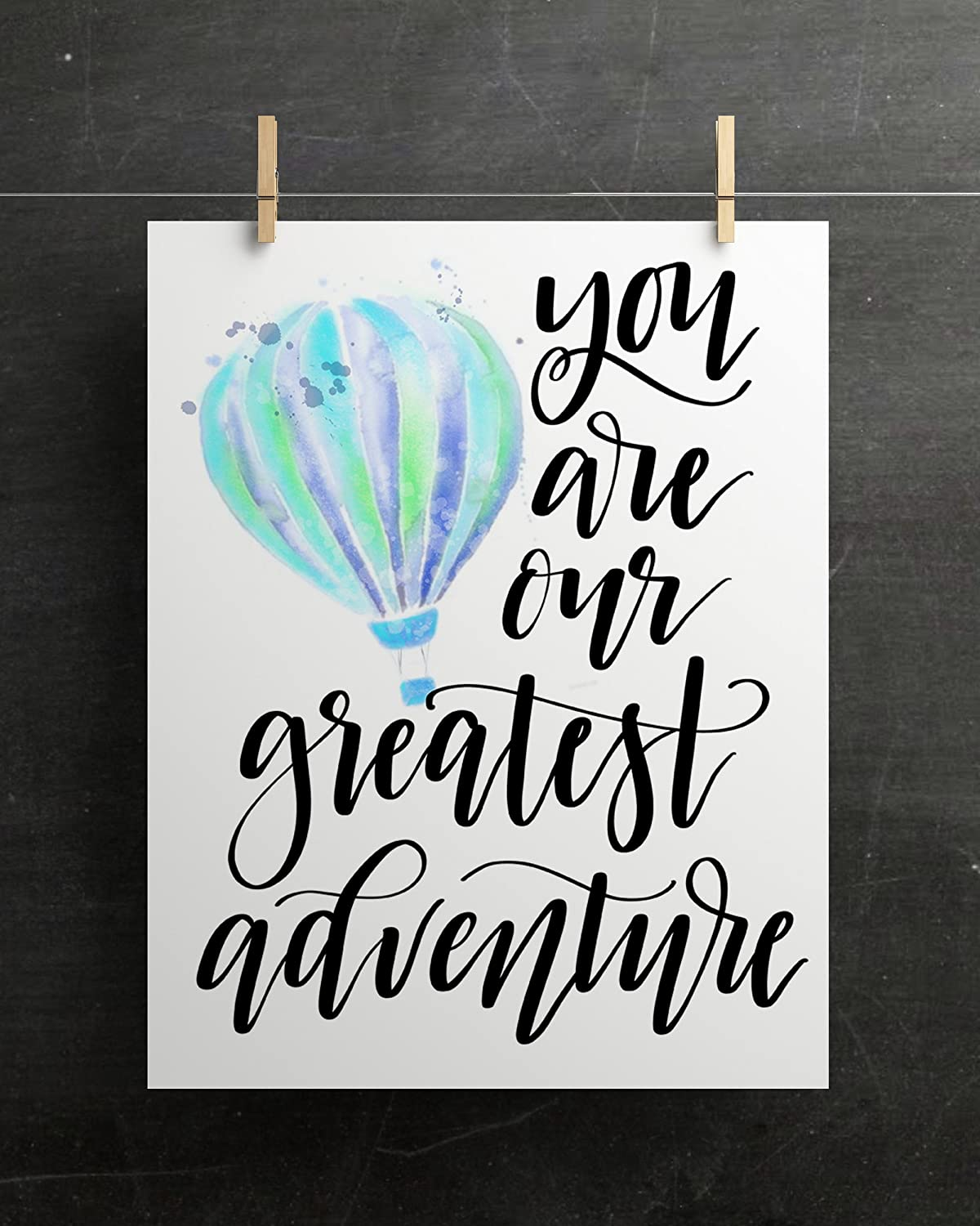 You Are Our Greatest Adventure Cardstock Hot Air Balloon Print 8.5 x11