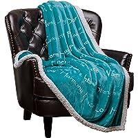 Chanasya Super Soft Ultra Plush Healing Thoughts Warm Hugs Posivite Energy Comfort Caring Gift Throw Blanket