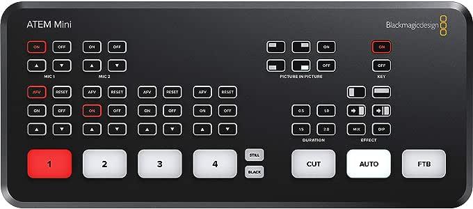 Amazon Com Blackmagic Design Atem Mini Hdmi Live Switcher Camera Photo