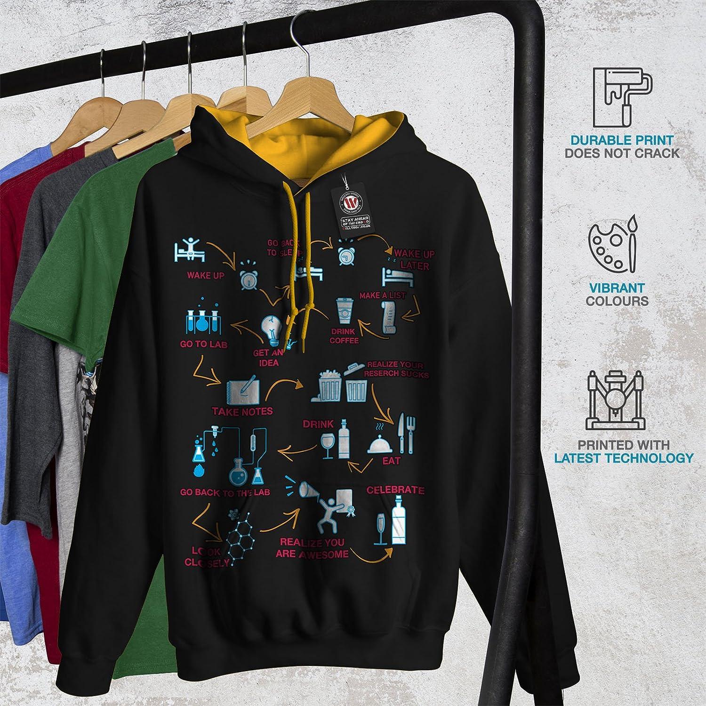 Lab Casual Hooded Sweatshirt Wellcoda Chemistry Geek Life Mens Hoodie