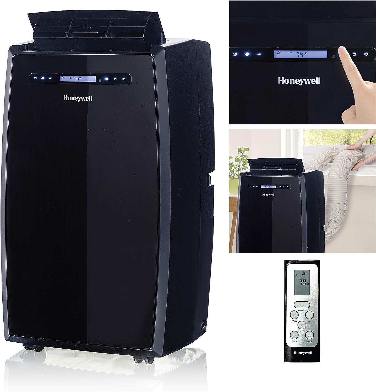 Honeywell 14,000 BTU Portable Air Conditioner with Dual Hose, Black