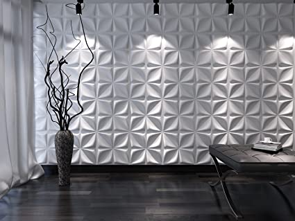 Image Unavailable & Amazon.com: 3D Wall PanelsPaintable Plant Fiber Design Interior ...
