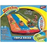Mozlly Multipack - Wham-O Slip N' Slide Triple Racer with 3 Slide Boogies - 16 x 6 x 20 inch - Outdoor Water Toy (Pack of 3) - Item #S119033_X3