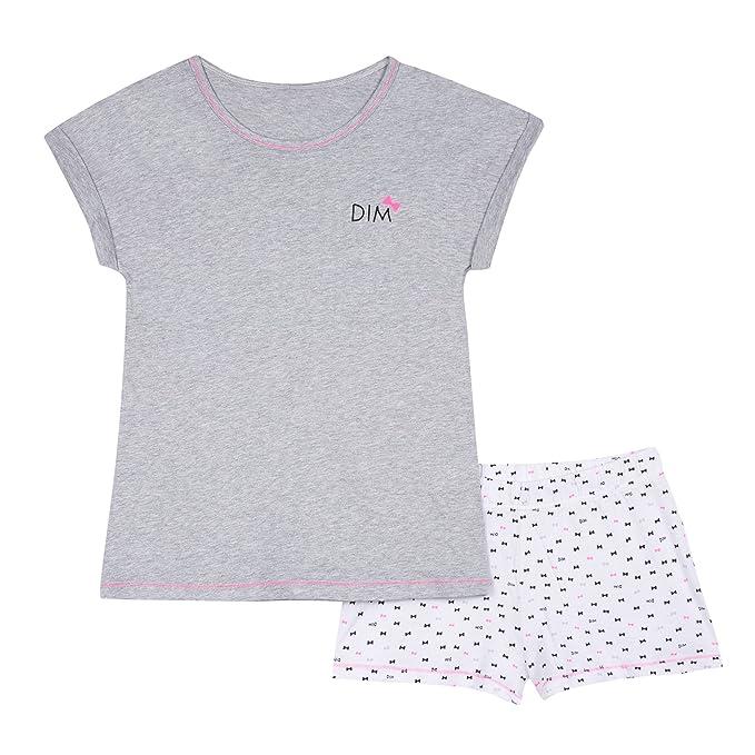 Dim Pyjama Court, Conjuntos de Pijama para Niñas, Marfil (Gris Chine 20)