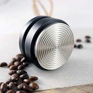 MindfulKing | 53mm Espresso Leveler Tool, Circular Distributor, Use for 54mm Breville, Spaziale, Pavoni Portafilters, Coffee Leveler Tool (Black)