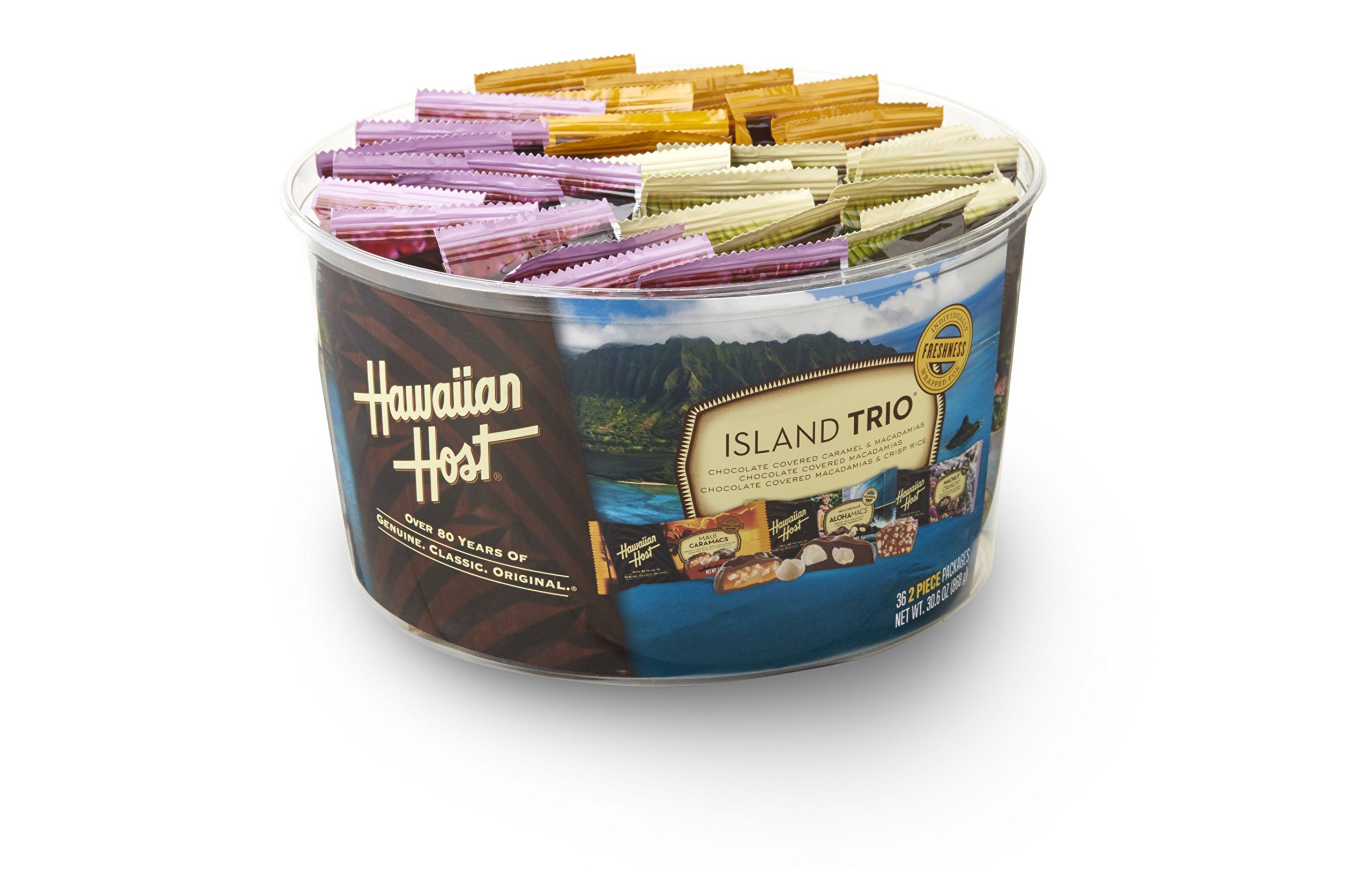 Hawaiian Host Island Trio Gift Pack 36 Count Chocolate and Macadamia by Hawaiian Host (Image #1)