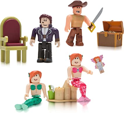 Roblox Neverland Lagoon Celebrity Collection4-Figure Pack w//virtual code