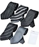 ビジネスマンサポート 洗えるネクタイ 5本セット 洗濯ネット付き