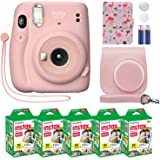 Fujifilm Instax Mini 11 Instant Camera Blush Pink Compatible Custom Case + MiniMate Accesorios + Fuji Instax Film Value Pack