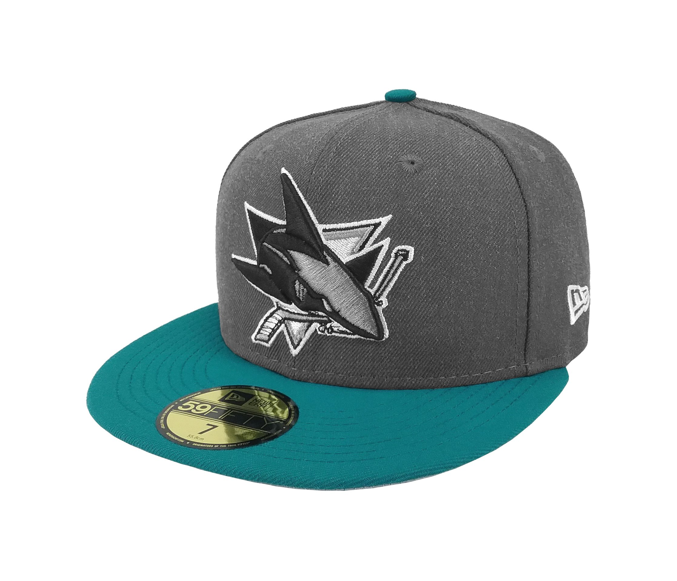 New Era 59Fifty Hat NHL San Jose Sharks Shader Melt 2 Charcoal Turquoise Cap  (7) Apparel a427e5f89707