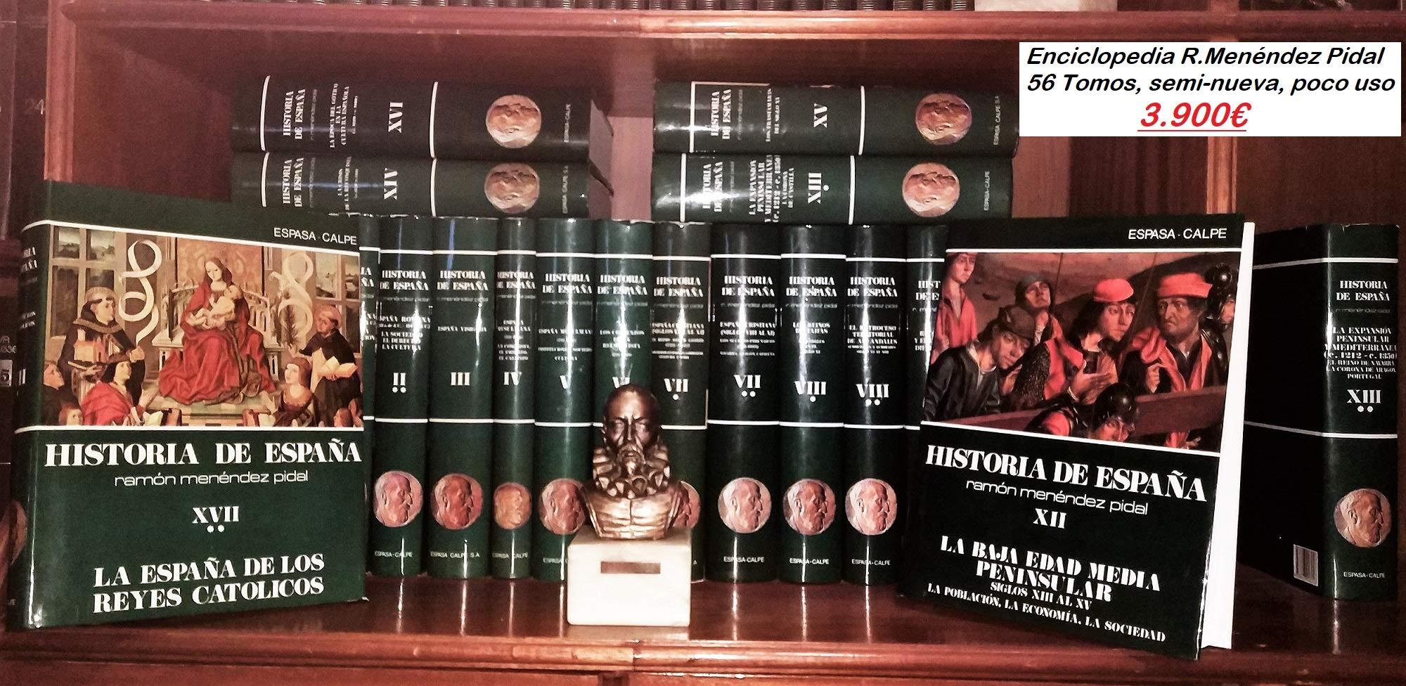 Historia de España obra completa 60 vols. publicados Historia de España Menéndez Pidal: Amazon.es: Menendez Pidal, Ramon: Libros