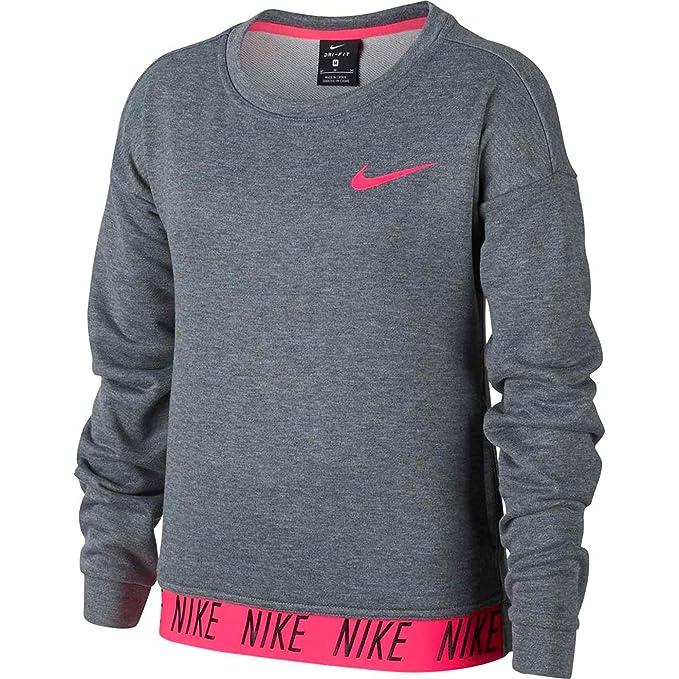 Nike Yth Team Club Crew Sudadera para niño, color gris