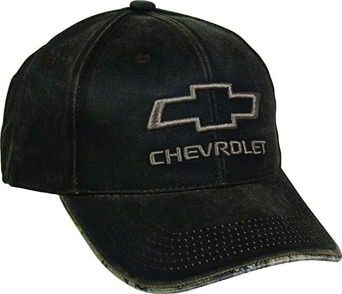 f6c4b43d47759 Outdoor Cap Men's Chevrolet Weathered Cap with Realtree camo Under Visor