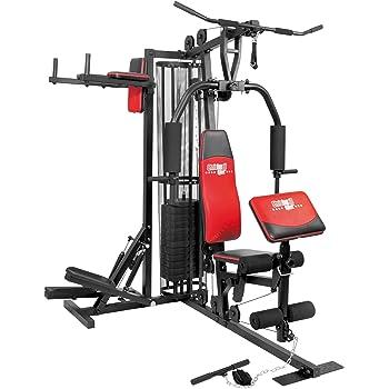 Mit einer Kraftstation lassen sich verschiedene Muskelgruppen effektiv trainieren.