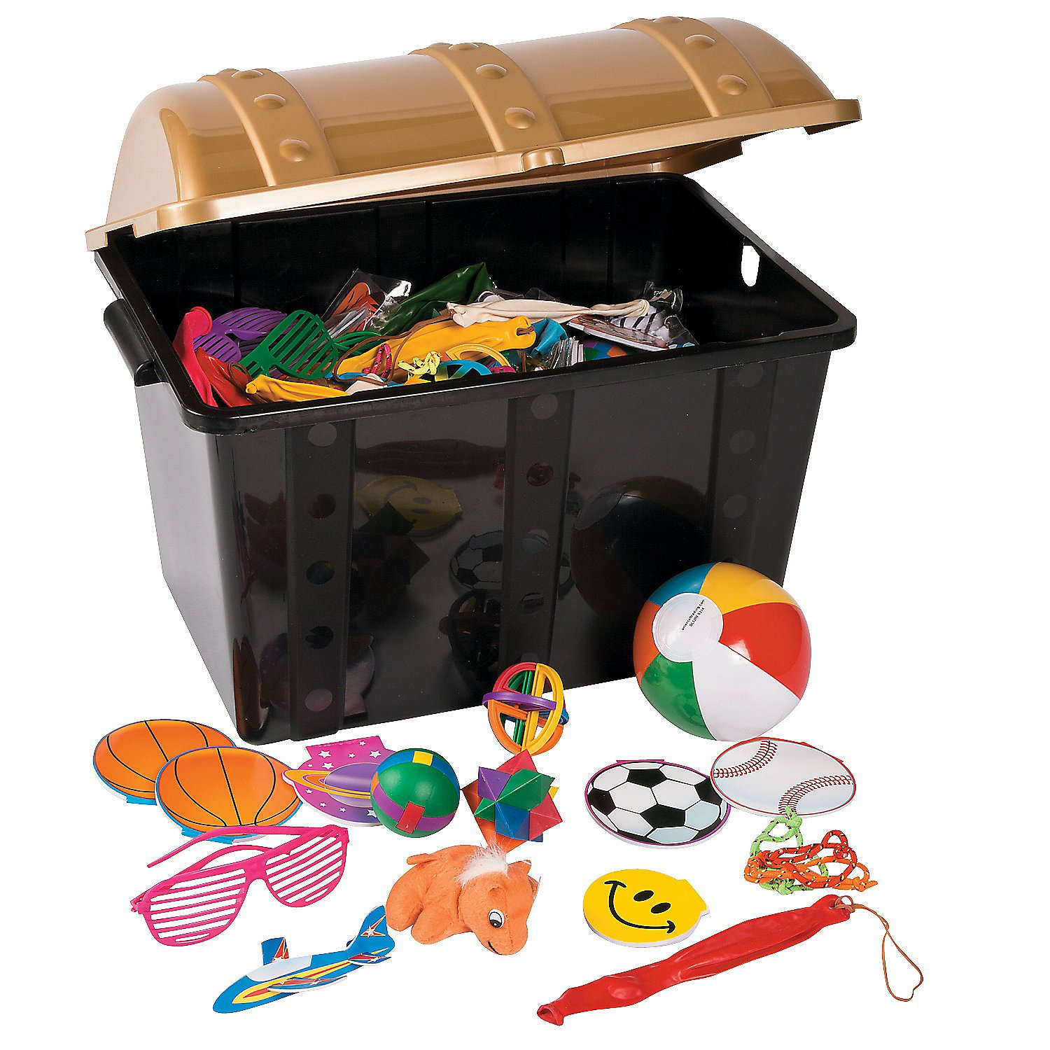 Fun Express Plastic Treasure Chest with 500 Toy Assortment by Fun Express