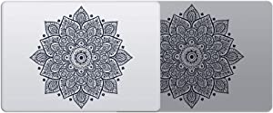 Laptop Stickers Decal - Removable Vinyl Mandala Black Decal Skin for Apple MacBook Air Pro 13 15 inch Mac - Decorative Sticker - Artsybb
