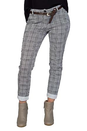 verfügbar Wählen Sie für echte Top Qualität Baldari Damen Zigarettenhose Stretchhose Stretch-Hose kariert im Modischem  Glencheck Muster