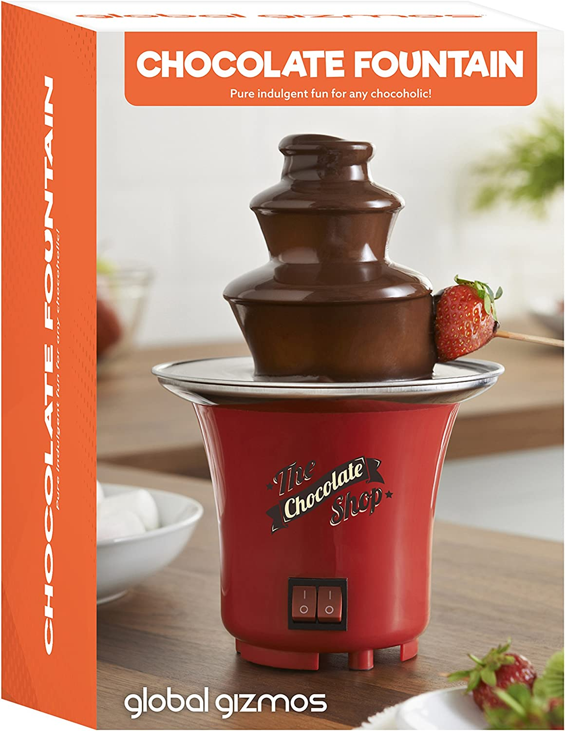 Global Gizmos Chocolate Fountain Just Melt /& Enjoy Electronically operated