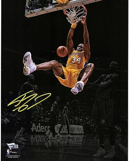 8d62ebb5bb9 Shaquille O Neal Los Angeles Lakers Autographed 11 quot  x 14 quot  Dunk  Spotlight Photograph