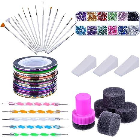 76c279487 Kit de Arte de Uñas con Pinceles de Arte de Uñas