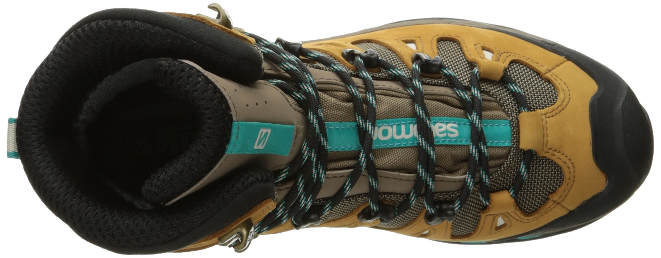 Salomon Women's Quest 4d 2 Gtx W Backpacking Boot, Shrew/Camel Gold Leather/Teal Blue Fabric, 8.5 M US by Salomon (Image #8)