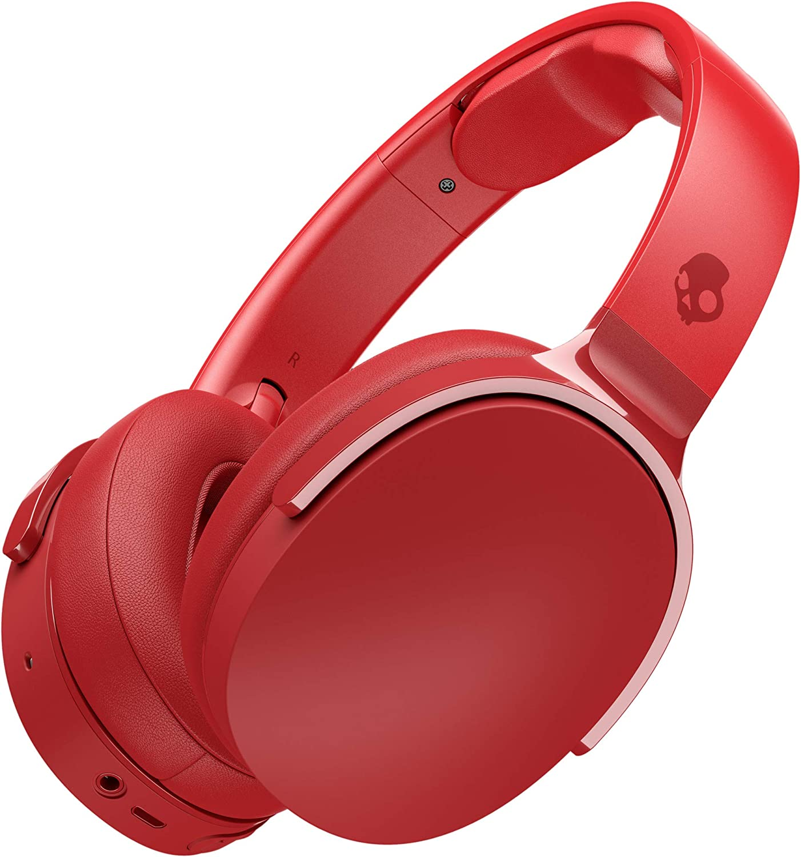 Skullcandy Hesh 3 Over-Ear Bluetooth, Auriculares Inalámbricos, con Micrófono y Batería de Carga Rápida con 22h de Duración, Almohadillas de Espuma Viscoelástica para Más Confort, Rojo