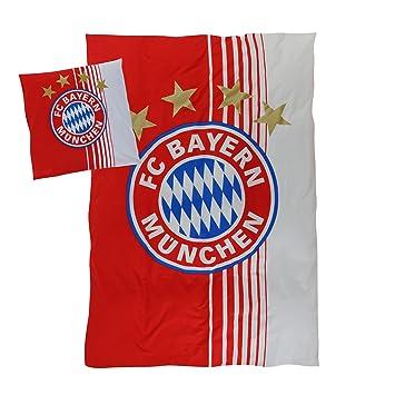 Fc Bayern München Bettwäsche Logo Xxl Amazonde Sport Freizeit