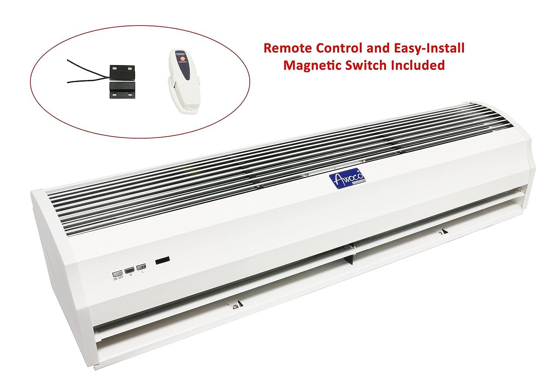 Awoco FM-12 パワー 消音 屋内 エアカーテン リモコンとマグネットスイッチ付き 40