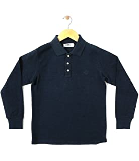 1d5e9144e8aa Gkidz Boys Solid Cotton Full Sleeve Polo T Shirt(Boys-LSLV-Polo ...