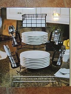 7 Piece Wrought Iron Stack \u0026 Serve Buffet Set & Amazon.com - MESA Delaware Buffet Silverware Caddy Dinner Plate ...
