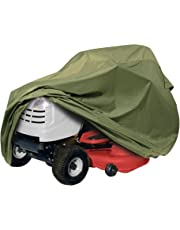 "Classic Accessories 73910 Lawn Tractor Cover, Olive, Up to 54"" Decks"