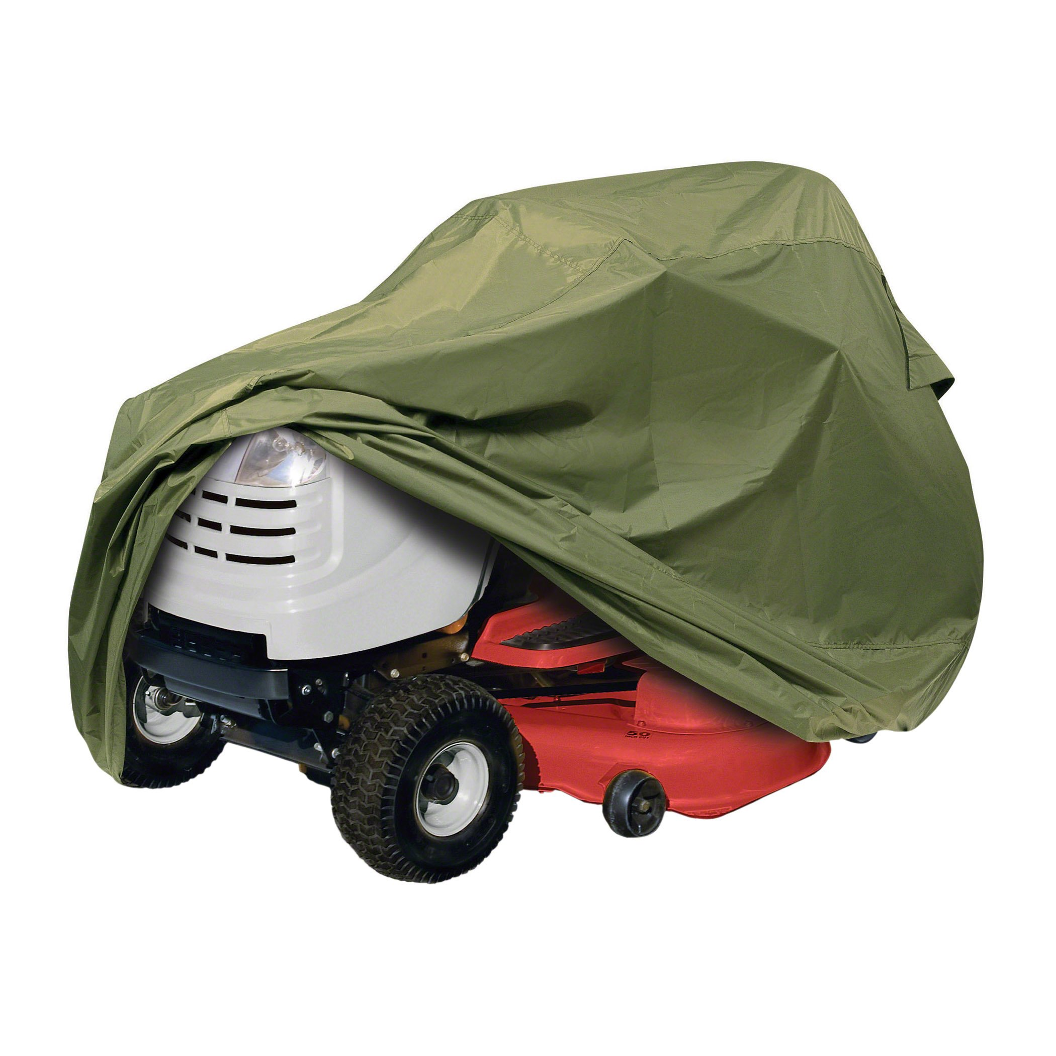 Classic Accessories 73910 Lawn Tractor Cover, Olive, Up to 54'' Decks