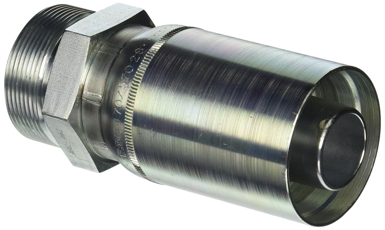 30mm Tube Size EATON Weatherhead Coll-O-Crimp 47016E-30F 24 Degree Male Seat Heavy Fitting Low Carbon Steel 1 Hose ID