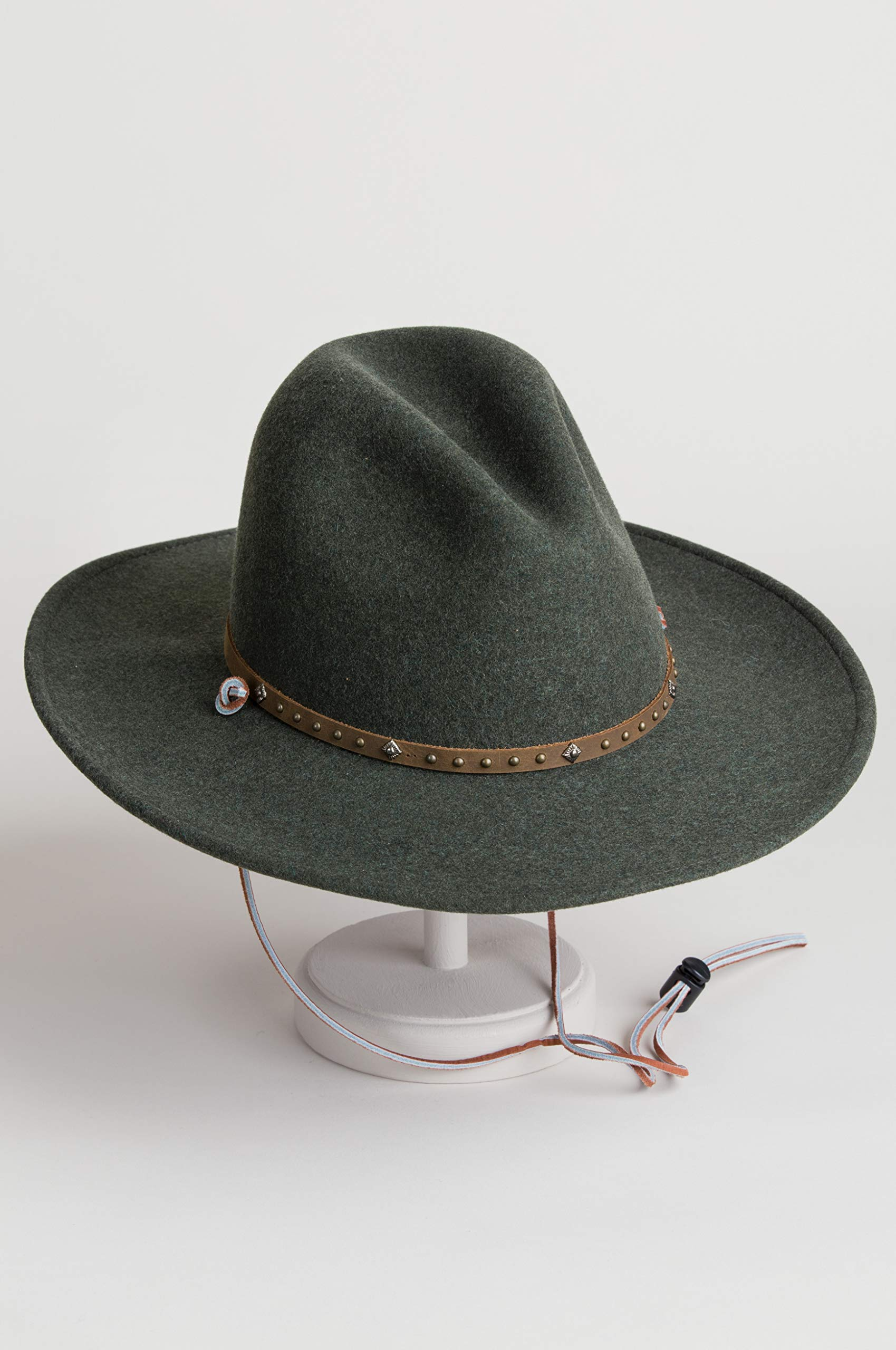 Men's Lonesome Trail Crushable Wool Stetson Hat, OLIVE MIX, Size SMALL by Stetson (Image #4)