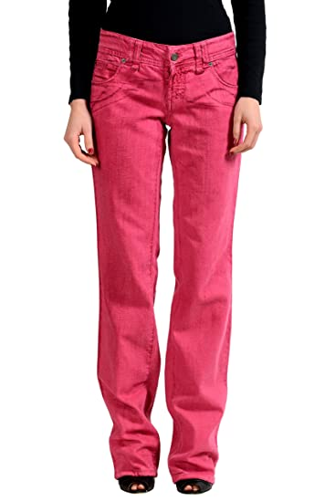 2ff3c3cbda Image Unavailable. Image not available for. Color  John Galliano Women s  Pink Straight Leg Jeans ...