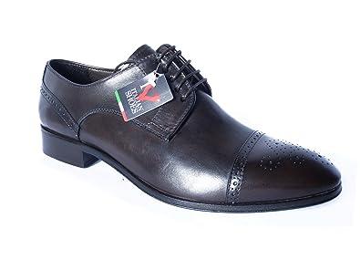 OSVALDO PERICOLI , Chaussures de ville à lacets pour homme - gris - gris, 44 EU EU