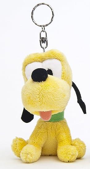 Mickey & Friends 900752 - Llavero de peluche diseño Pluto, 10 cm [Importado de
