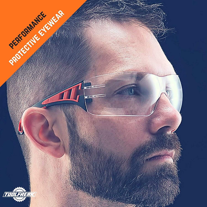 con Cristales Envolventes Transparentes con Acolchado de Espuma ToolFreak Rip Out Gafas de Seguridad para Trabajo y Deporte