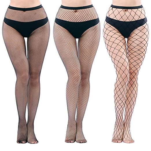 d0905e751b9 Image Unavailable. Image not available for. Color  NYKKOLA Women s High  Waist Fishnet Tights Suspender Pantyhose ...