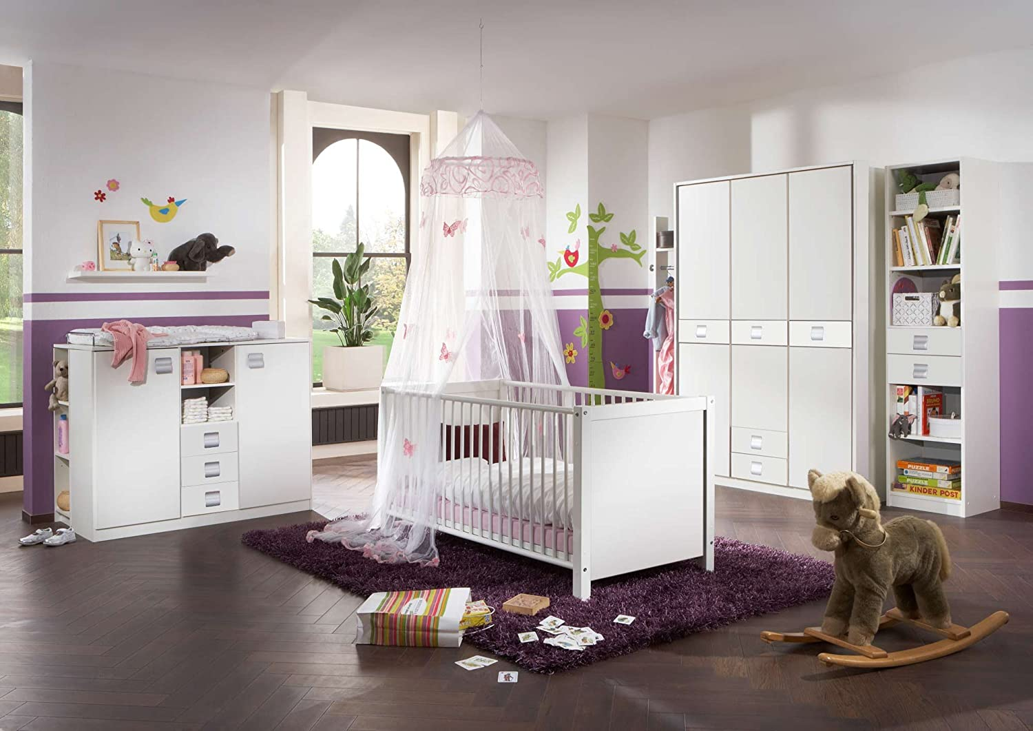 babyzimmer kinderzimmer komplett set babym bel babybett wickelkommode babyausstattung. Black Bedroom Furniture Sets. Home Design Ideas