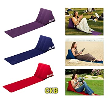 CKB Ltd® Chill Out Portable Travel Inflatable Lounger with Wedge Shape del asiento amortiguador trasero