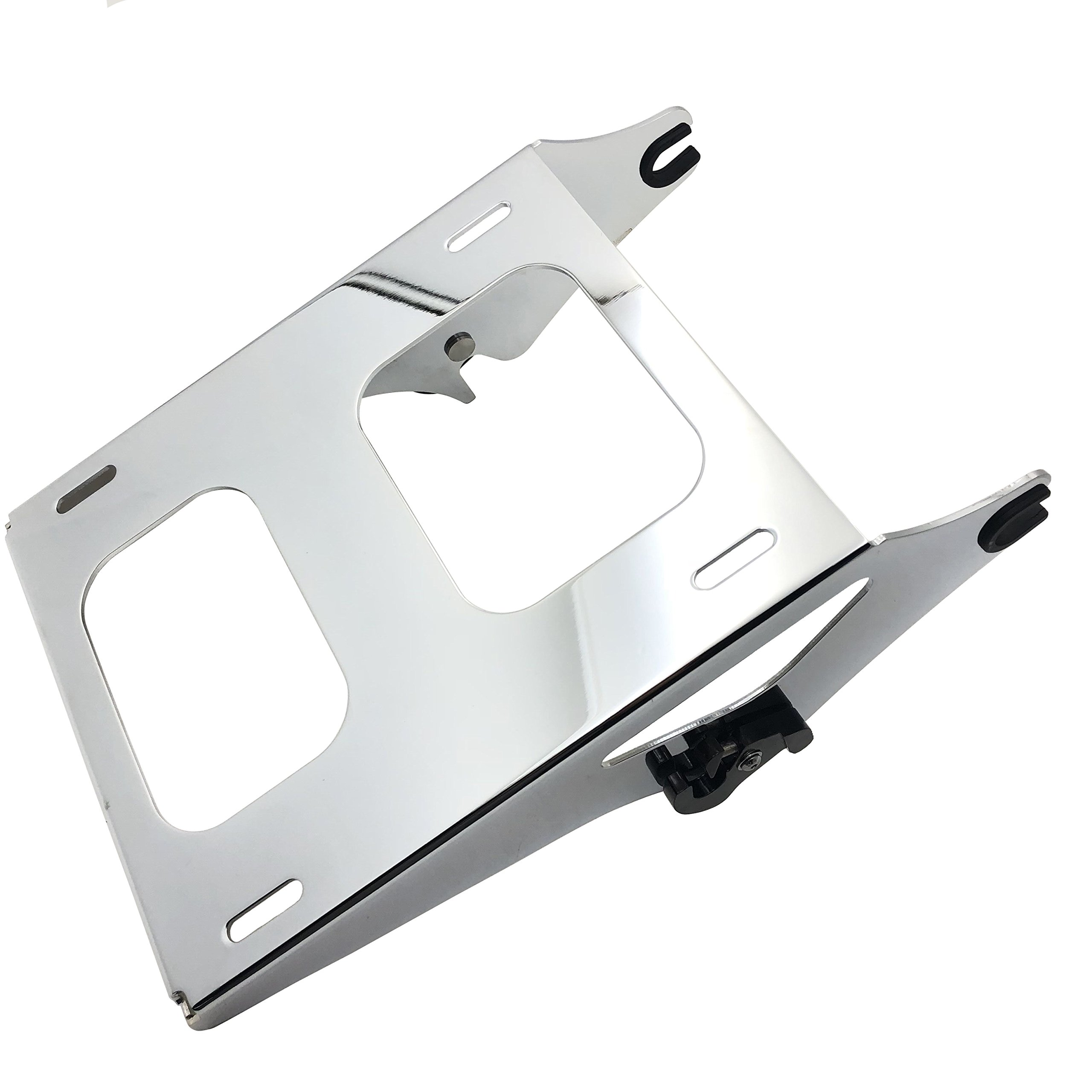 HTT Chrome Detachable 2 Two Up Tour Pak Pack Mounting Luggage Rack For Harley Touring Road King Street Glide Road Glide 2014-2016