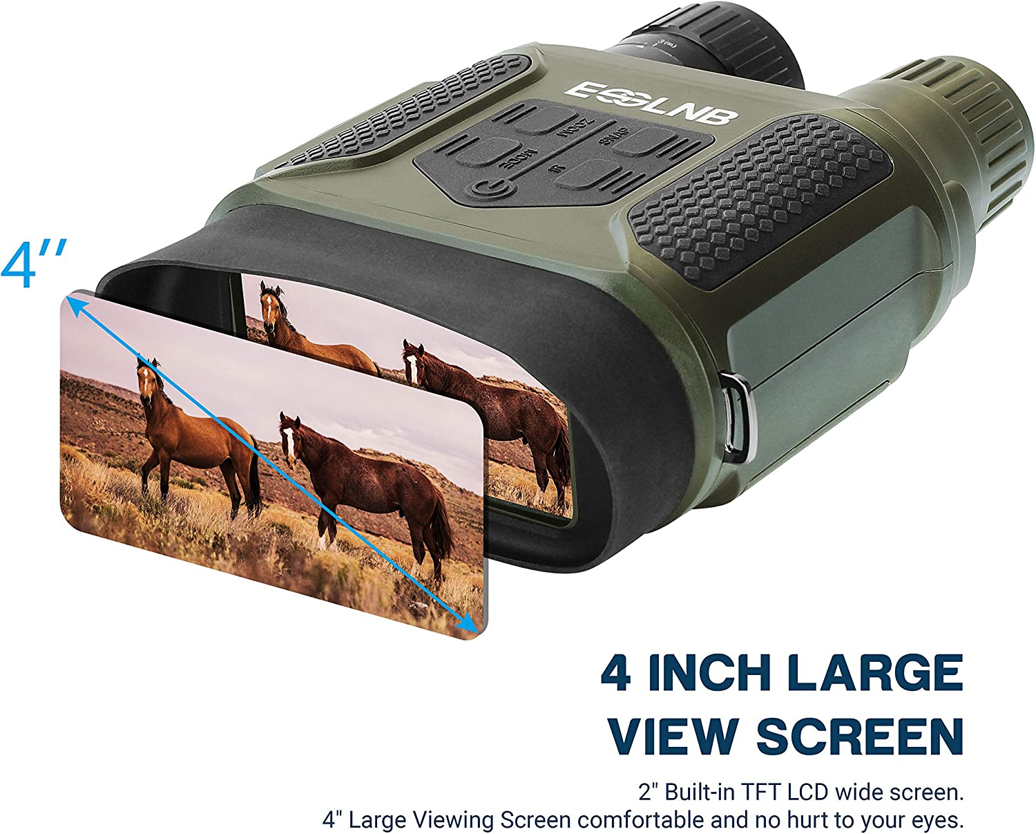 ESSLNB Night Vision Binoculars 1300ft Digital Night Vision Scope 7×31 Infrared Night Vision Hunting Binocular with 2 TFT LCD and 8GB TF Card Photo Camera Video Recorder Playback Function